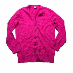 J.Crew pink S button up cardigan wool blend